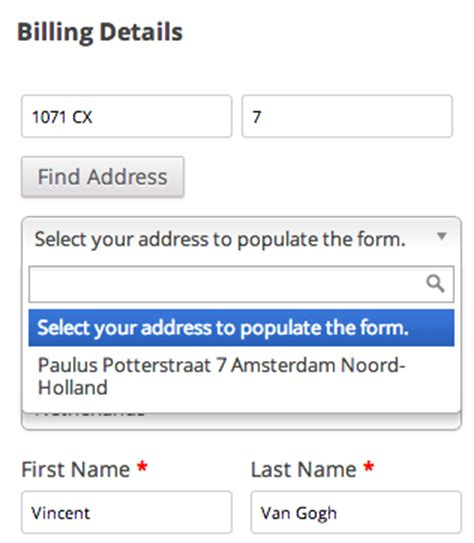Address Postal Code Finder Integrating Woocommerce Netherlands Postcode Lookup