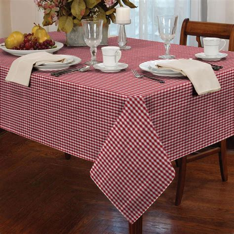 Shabby Table Cloth 90 90 by Country Style Gingham Check Table Cloth Square