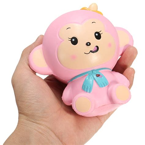 Mini Pink White Squishy Original With Packaging woow squishy monkey rising 12cm with original packaging blue and pink sale banggood