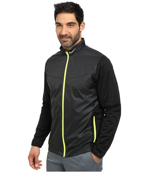 Jaket Jiper Black List Grey 1 lyst nike shield zip jacket in black for