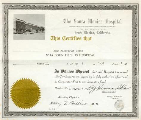 Hospital Birth Record Documents