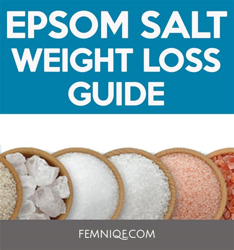 Epsom Salt Detox Bath For Weight Loss by The Best Epsom Salt Weight Loss Guide Femniqe
