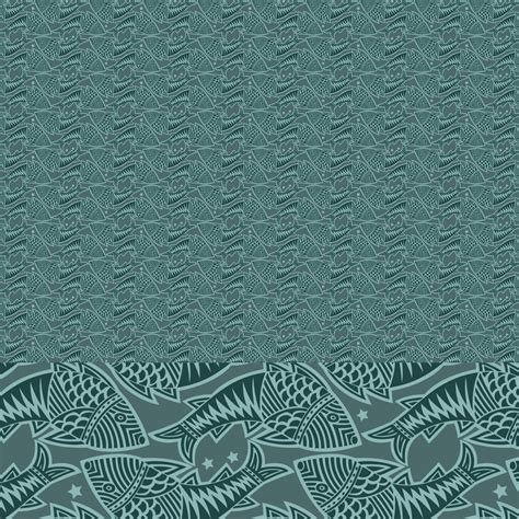 Woodcut Pattern Fish Woodcut Printing Block Patterns By Joiaco