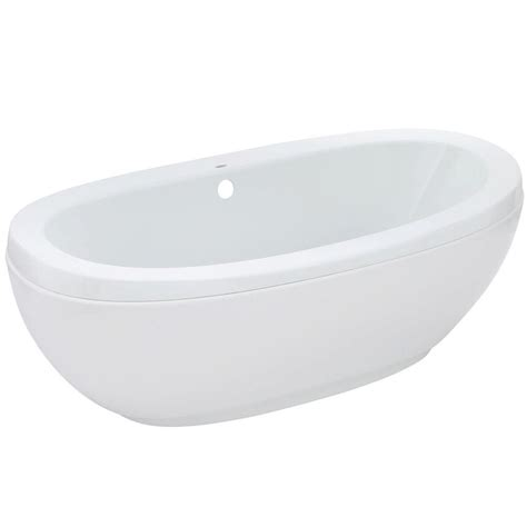 center drain bathtub maax romance 5 5 ft center drain bathtub in white 105465