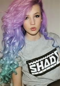 pretty colored hair colorful hair dyed hair hair hairstyle pastel hair