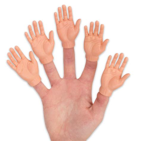 Eccentric Home Decor by Realistic Hand Shaped Finger Puppet Budk Com Knives