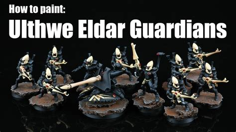 how to paint how to paint ulthwe eldar guardians youtube