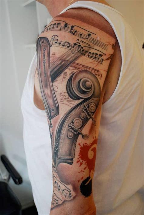 music half sleeve tattoo designs best 25 sleeve tattoos ideas on how to