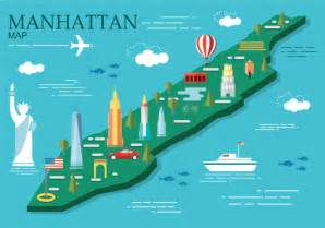 Building Style by Manhattan Map Vector Illustration Download Free Vector