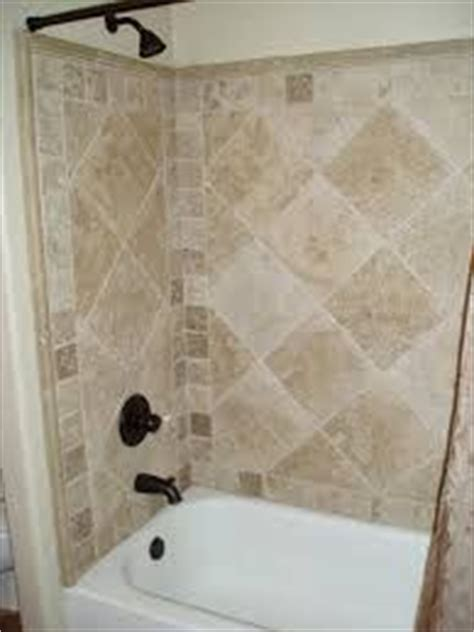 travertine tile bathtub shower combo surround design