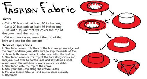 tricorn hat template tricorn hat pattern thingy sewing flats