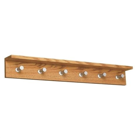 coat hooks and racks safco contempo wood 6 hook wall medium oak coat rack ebay