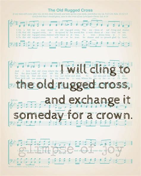 I Still Cling To The Rugged Cross Lyrics by The World S Catalog Of Ideas