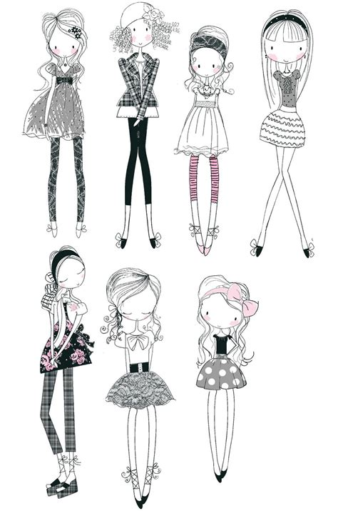 girly doodle ideas all about surface pattern textiles and graphics girly