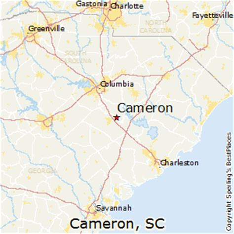 cameron carolina map best places to live in cameron south carolina