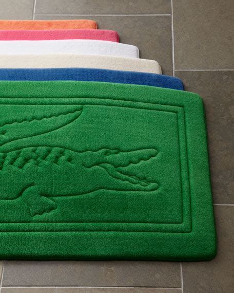 lacoste bath shower curtain lacoste bath rug 21 quot x 34 quot