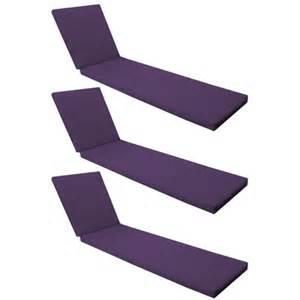 lounger recliner outdoor replacement cushion garden pads