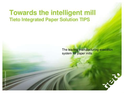 tips and solution tieto integrated paper solution tips intelligent mill