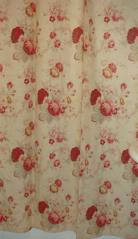 pink shower curtains fabric beige red pink floral fabric shower curtain ex cell home