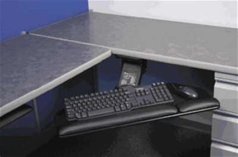 corner desk with keyboard tray ergo experts llc