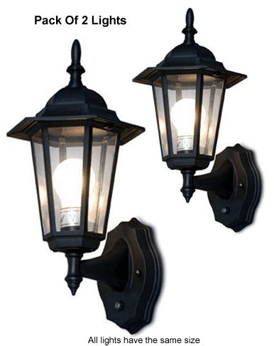 Pack Of 2 Outdoor Wall Lanterns With Auto Sensors For Dusk Photocell Outdoor Wall Light