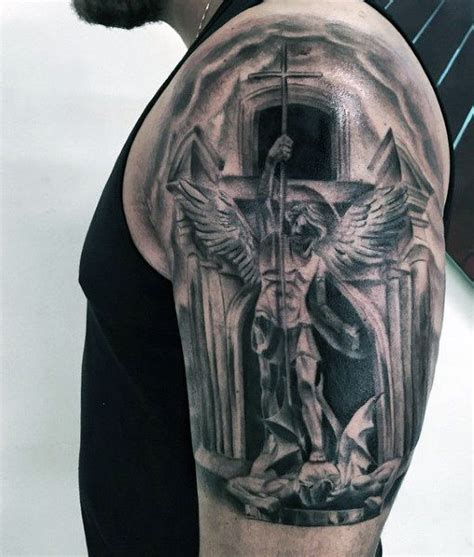 saint tattoo designs 75 st michael designs for archangel and