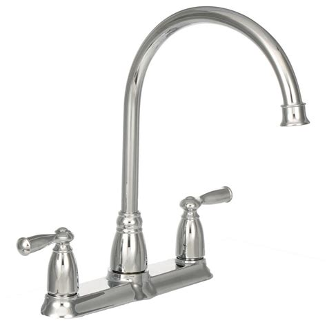 Moen Two Handle Kitchen Faucet Moen Banbury High Arc 2 Handle Standard Kitchen Faucet With Side Sprayer In Chrome Ca87000 The