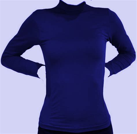 Sleeve Turtleneck T Shirt s sleeves lycra turtleneck t shirt royal blue