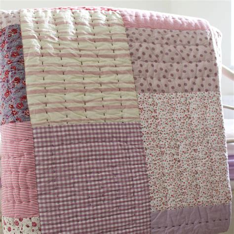 Antique Patchwork Quilt - vintage patchwork quilt by lime tree