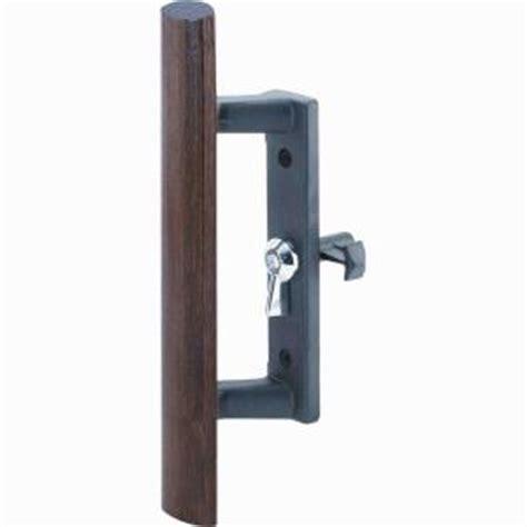 prime line 3 1 2 in black sliding glass door handle with