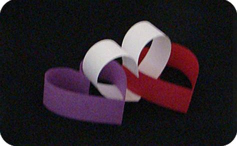 How Do You Make A Paper Chain - paper chain hearts make origami
