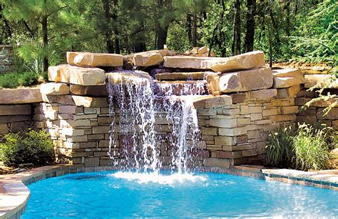 pool waterfalls rock waterfalls blue haven custom swimming pool and spa