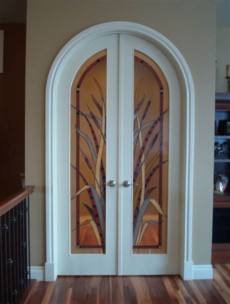 Decorative Interior Doors With Glass Interior Decorative Glass Doors Eclectic Interior