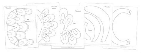 headdress template printable carnival headpiece template easy and to