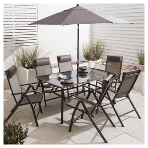 Outdoor Dining Sets Tesco Buy Roma Metal Garden Furniture Set 8 From Our