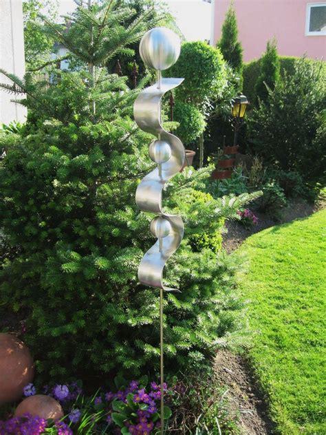 vögel in unserem garten gartenstele aus edelstahl nr 19