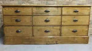 pine nine drawer base shop counter in dressers