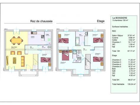 Plan Maison Etage 3 Chambres by Plan Maison 1 Etage 3 Chambres De A Madame Ki Systembase Co