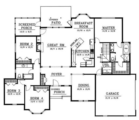 rambler house floor plans rambler floor plan 4 bedrooms house plans pinterest