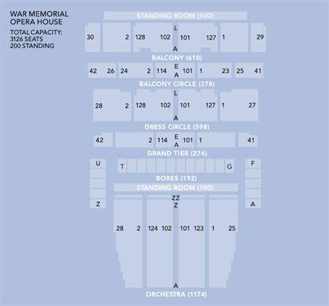 san francisco war memorial opera house seating war memorial opera house seating chart san francisco war
