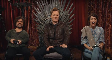 peter dinklage video game movie peter dinklage and lena headey play video games with conan