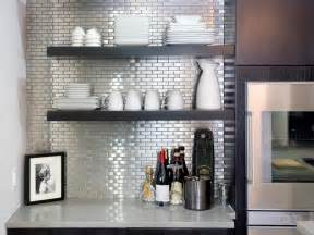 stainless steel tiles for kitchen backsplash kitchen backsplash design ideas hgtv