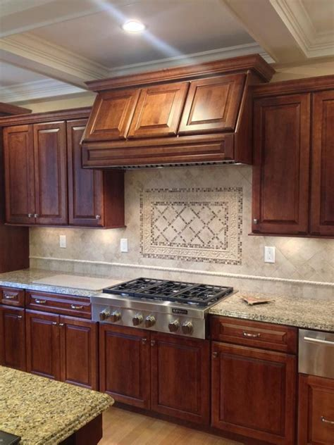 """Medallion """"Brookhill"""" Rumberry maple cabinetry with """"New"""
