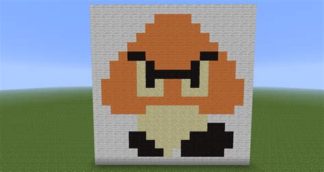 super mario pixel art by sullyvancraft on deviantart minecraft pixel art goomba super mario by diablofr91