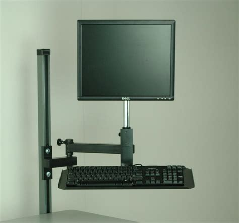 keyboard swing arm stackbin workbenches flat screen monitor arm with