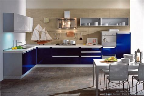 Blue Kitchens With White Cabinets Blue Modern Kitchen Cabinets Quicua