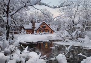 Winter House by Beautiful Small Houses And Picture Perfect Winter Scenes