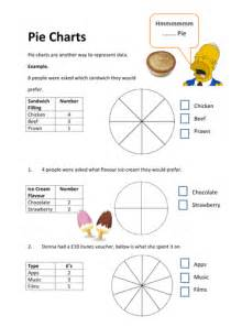 pie chart worksheet shading in segments by vhughes5