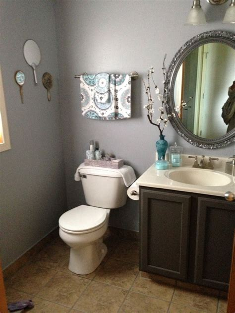 gray powder room powder room with blue gray walls inspirations for my