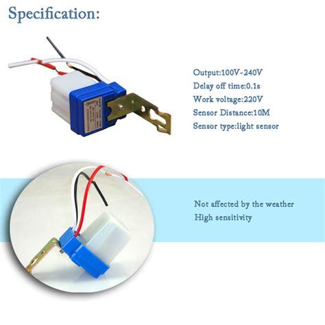 Photo Sensor 220volt 10a Or Home Lighting auto on switch controller light sensor 10m distance 220v photocell 50 60hz 10a photo